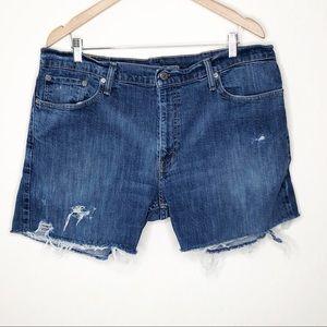 Levi's distressed Denim Jean Cutoff Shorts